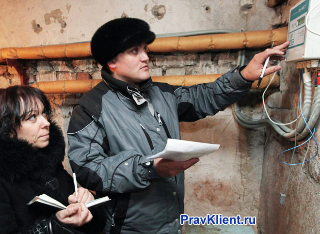 Проверка счетчиков в подвале