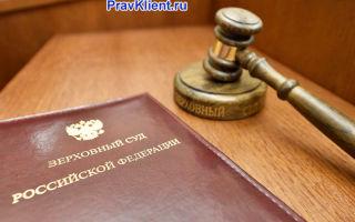 Составление кассационной жалобы в Верховный суд
