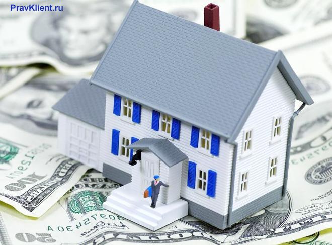 Двухэтажный дом стоит на американских долларах