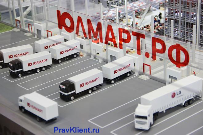 Доставка товаров Юлмарт
