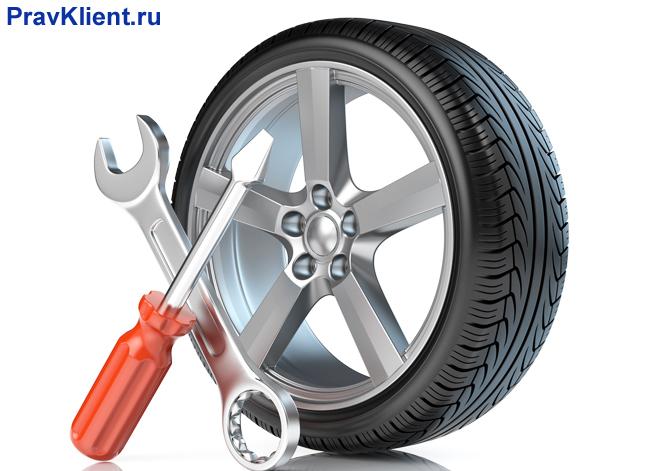 Автомобильная шина, инструменты